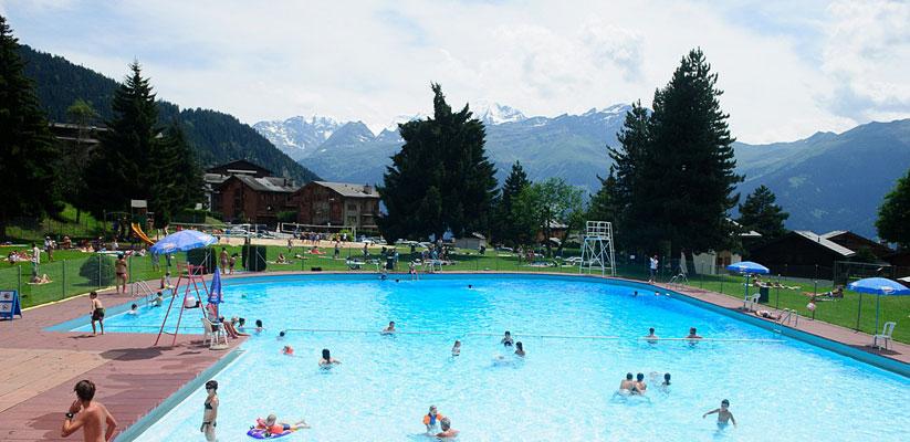 Verbier beach swimming pool